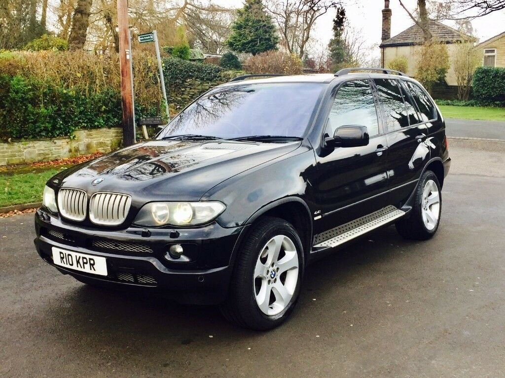 2004 54 bmw x5 v8 sport 4x4 semi auto black fully loaded full service history in. Black Bedroom Furniture Sets. Home Design Ideas