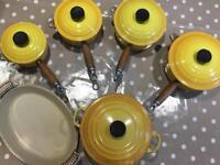 Le Creuset Cast Iron Pan set - 6 items