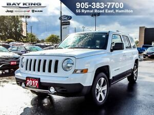 2017 Jeep Patriot HIGH ALTITUDE PACKAGE, 4X4, HTD LEATHER, SUNRO
