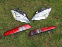 Front lights and rear lights for Ford focus estate