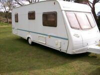 lunar 6 berth family van in exc condition with awnings rear fixed bunk beds
