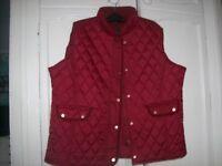 womans gillette , body warmer burgundy davidbarry size 20