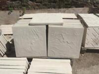 Straight & rivern edge 450x450x35mm Concrete Paving slabs