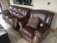 Sofa and 2 chairs suite