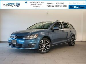 2015 Volkswagen Golf Sportwagon 2.0 TDI Highline+NAVI+BACK UP CA