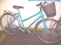 LOTS NEW PARTS RALEIGH HYBRID FULLY RESTORED