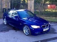 2009 09 BMW 320D M Sport Le Mans Blue 4 Door Saloon LCI Model *Full Service History*325D 330D 318D