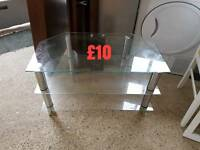 clear glass tv unit free delivery in leicestershire