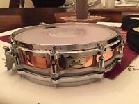 "Pearl 14"" Free Floating Copper Snare Drum with new PR Case"