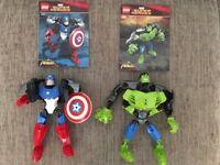 Lego Marvel Captain America & Incredible Hulk Figures