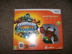 Wii skylander giants booster pack like new