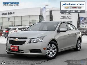 2014 Chevrolet Cruze 1LT 0.9% FINANCING OR NO PAYMNETS AND NO IN