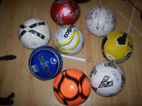 A collection of footballs (8 in all).