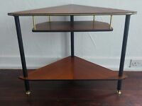 Vintage midcentury corner occasional table
