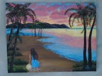 Painting of a tropical sunset