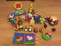 Large bundle of baby toys lamaze vtech little tike