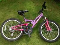 "Girls Pink Mountain Bike, Apollo 20"""