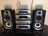 Technics SC-DV290 DVD CD Cassette Radio Entertainment System