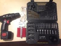 Cordless drill + drill bits set