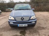 Mercedes ML270 CDI 2005 157K miles on the clock (M.O.T entail September) CHEAP RELIABLE JEEP