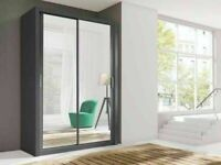 DESIGNER FURNITURE--Berlin 2&3 Sliding Doors Wardrobe In 5 Sizes & In Multi Colors- CALL NOW