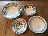 Job lot/collection of 20 vintage China bowls - wedding/party/event