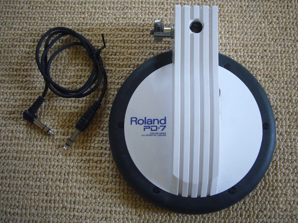 Roland PD-7 electronic dual snare drum, tom or cymbal trigger pad