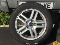Ford 5 stud alloy wheels and good tyres