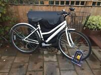"Ladies 17"" Enterprise hybrid bike bicycle. Inc D lock, basket & lights. Delivery available"