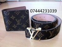Any 2 for £45 Louis Vuitton Belt Lv Wallet Good Quality