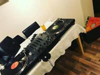 DJ Turntables & Mixer Package