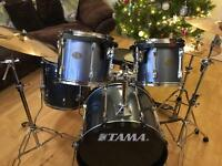SOLD. Tama rockstar drum kit with Sabina pro cymbals
