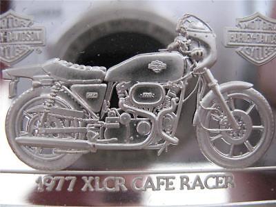 1.4-OZ.999 SILVER1977 CAFE RACER) 2ND EDITION ANNIV BAR HARLEY DAVIDSON+GOLD
