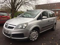 06 plate - Vauxhall zafira 1.6 petrol - one year mot - strong service history - 2 former keepers