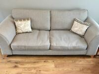 Grey DFS 3 Seater Sofa and Matching chair from 'Note' range