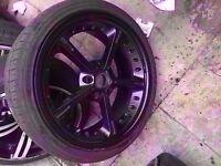 "Bmw single ac schnitzer 19"" type 4 black alloy wheel Can post"