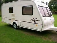 bailey pageant monarch 2 berth 2004 with motor mover only 990kg imaculate