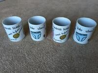 All About a Girl mugs by Viners Porcelain
