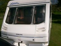 sterling vitesse 4 berth end shower room side dinette that can be bunk beds immaculate