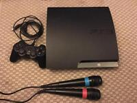 PS3 PlayStation 3 250 GB with singstar games kingdom hearts