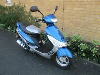 lexmoto scout pulse 50cc scooter moped 63 plate mot till 8/10/17 seven stamps in service book