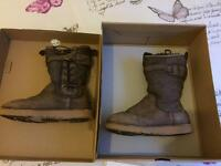 Ugg boots size 3 boxed as new distressed suede all saints style