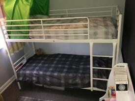 White metal bunk beds - ikea