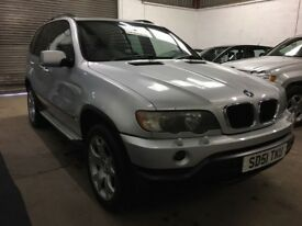 """BMW X5 3.0i SPORT Silver met black leather 19"""" alloys serviced 4 new tyres TRADE BARGAIN BE QUICK !!"""
