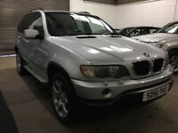 "BMW X5 3.0i SPORT Silver met black leather 19"" alloys serviced 4 new tyres TRADE BARGAIN BE QUICK !!"