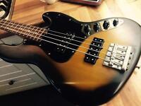 Fender Modern Player Jazz Bass Guitar. 3 Colour Sunburst