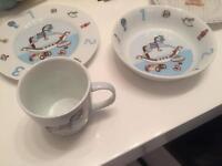 Two boys breakfast sets