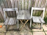 Garden folding table and chairs