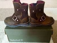Timberland leather mid boot toddler - size 4