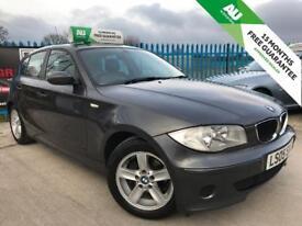 BMW 1 SERIES 1.6 116I ES 5d 114 BHP 15 MONTHS FREE WARRANTY (grey) 2005